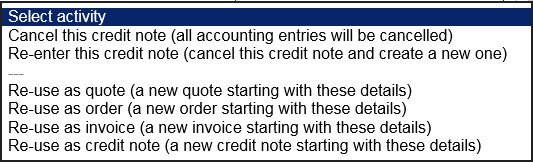 Produce Sales Credit Note