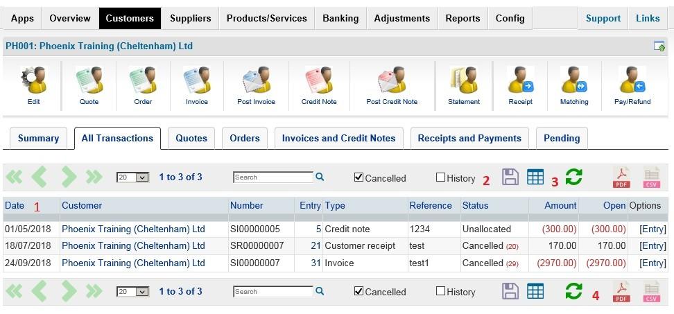 Customer Maintenance - Add New, Edit And View