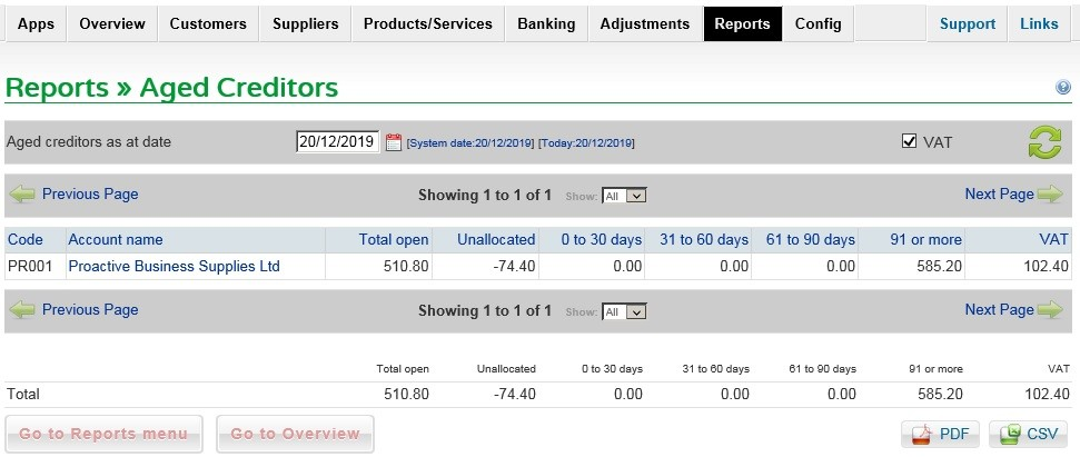 Purchase Reports