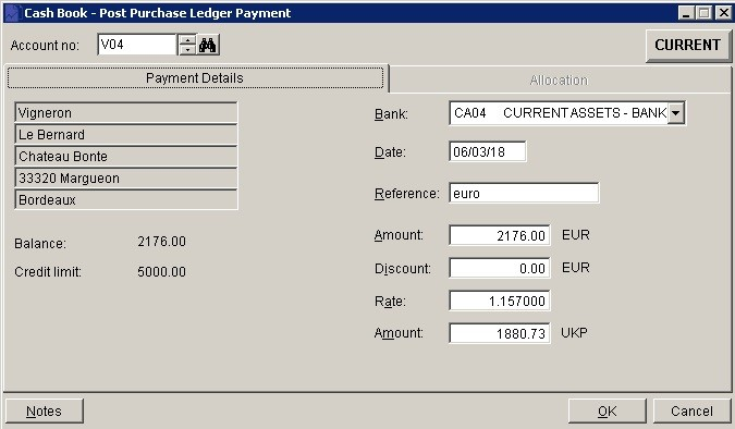 How Do I Record A Supplier Invoice Payment In Foreign Currency?
