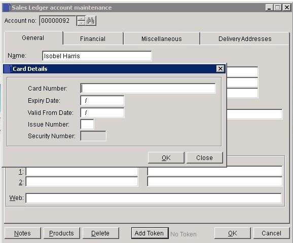 Sales Ledger - Process Debit and Credit Card Transactions