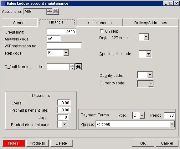 Sales Ledger - Create And Edit Customer Accounts