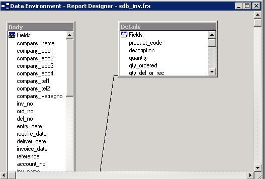 File Menu - Stationery Design - Data Environment