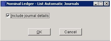 List Automatic Journals