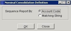 Consolidation Definitions Report