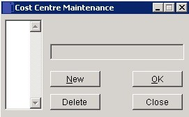 Create And Edit Cost Centres
