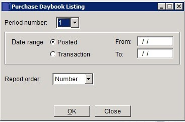 Purchase Ledger - Daybook Report
