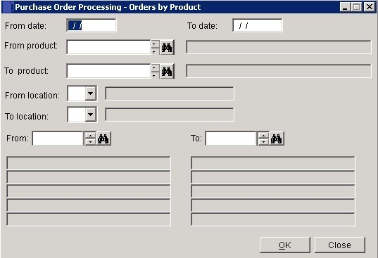 POP - Purchase Orders By Product Or Location