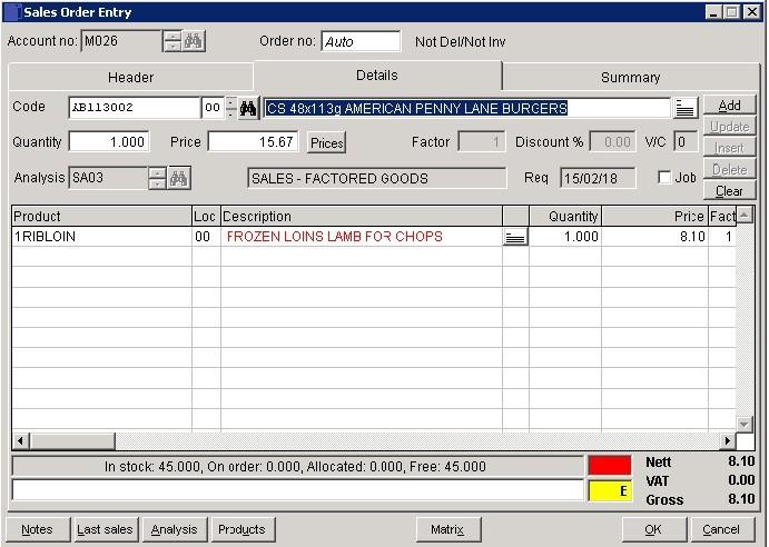 SOP - Enter Sales Orders