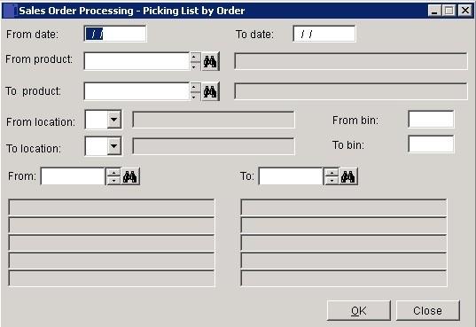 SOP - Print A Picking List