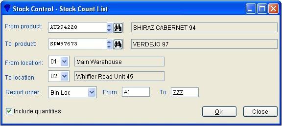 Stock - Count List