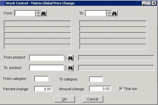 Stock - Make Global Changes To Price Matrices