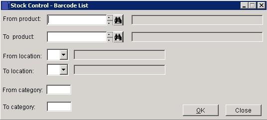 Stock - Barcode List