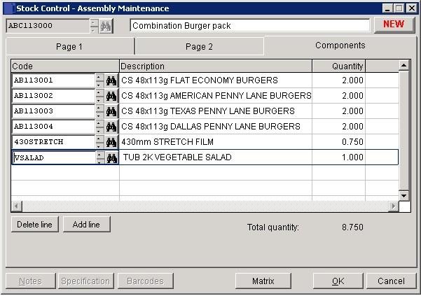 Stock - Create And Edit Assemblies