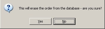 Warning - Delete Cancelled Order