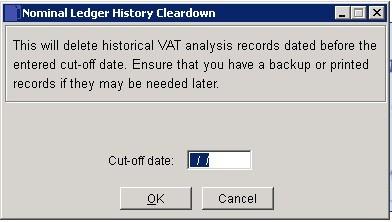 Cleardown History