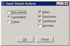 VAT Input/Output Analysis Report