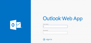 OWA sign-in page