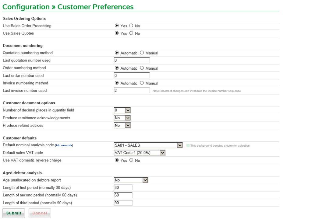 Set Customer Preferences
