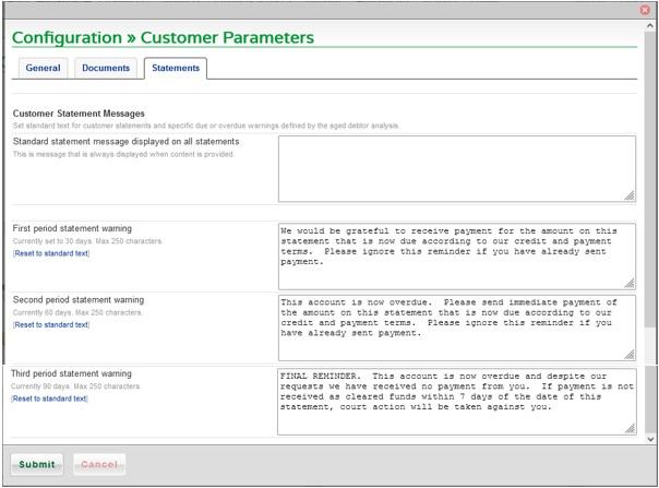 Set Customer Parameters